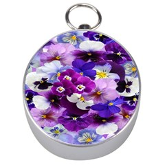Graphic Background Pansy Easter Silver Compasses