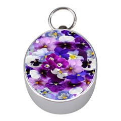Graphic Background Pansy Easter Mini Silver Compasses