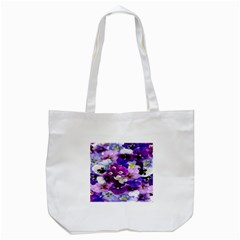 Graphic Background Pansy Easter Tote Bag (white)