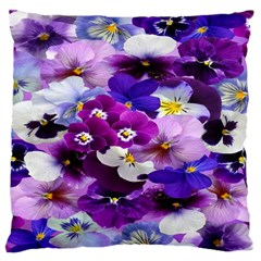 Graphic Background Pansy Easter Standard Flano Cushion Case (one Side)