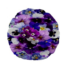 Graphic Background Pansy Easter Standard 15  Premium Flano Round Cushions