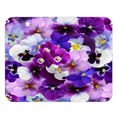 Graphic Background Pansy Easter Double Sided Flano Blanket (large)