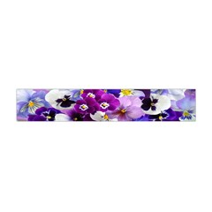 Graphic Background Pansy Easter Flano Scarf (mini)