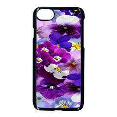 Graphic Background Pansy Easter Apple Iphone 8 Seamless Case (black)