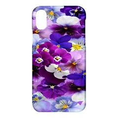 Graphic Background Pansy Easter Apple Iphone X Hardshell Case