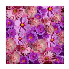 Flowers Blossom Bloom Nature Color Tile Coasters