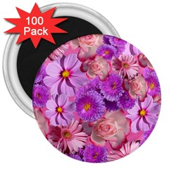 Flowers Blossom Bloom Nature Color 3  Magnets (100 Pack)