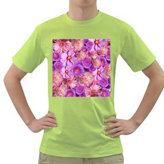 Flowers Blossom Bloom Nature Color Green T Shirt