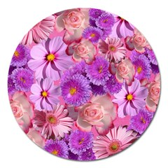 Flowers Blossom Bloom Nature Color Magnet 5  (round)