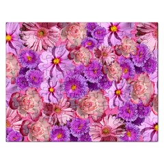 Flowers Blossom Bloom Nature Color Rectangular Jigsaw Puzzl