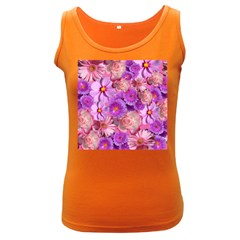 Flowers Blossom Bloom Nature Color Women s Dark Tank Top