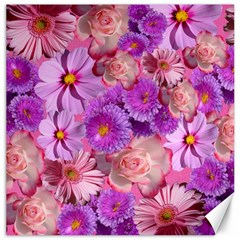 Flowers Blossom Bloom Nature Color Canvas 16  X 16