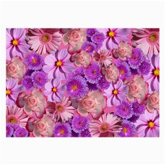 Flowers Blossom Bloom Nature Color Large Glasses Cloth (2 Side)