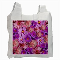 Flowers Blossom Bloom Nature Color Recycle Bag (one Side)