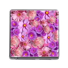 Flowers Blossom Bloom Nature Color Memory Card Reader (square)