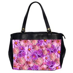 Flowers Blossom Bloom Nature Color Office Handbags (2 Sides)