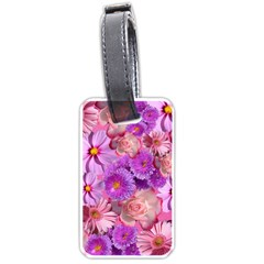 Flowers Blossom Bloom Nature Color Luggage Tags (one Side)