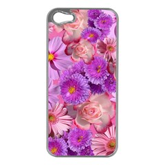 Flowers Blossom Bloom Nature Color Apple Iphone 5 Case (silver)