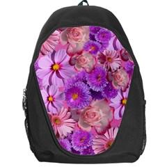 Flowers Blossom Bloom Nature Color Backpack Bag