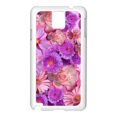 Flowers Blossom Bloom Nature Color Samsung Galaxy Note 3 N9005 Case (white)