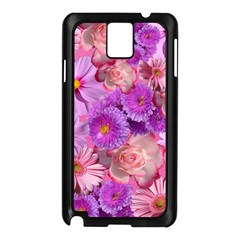 Flowers Blossom Bloom Nature Color Samsung Galaxy Note 3 N9005 Case (black)
