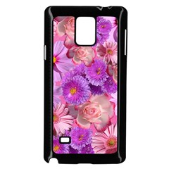 Flowers Blossom Bloom Nature Color Samsung Galaxy Note 4 Case (black)