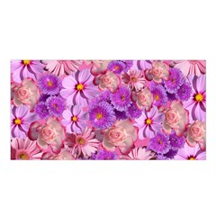 Flowers Blossom Bloom Nature Color Satin Shawl