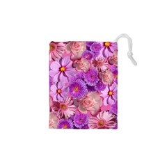 Flowers Blossom Bloom Nature Color Drawstring Pouches (xs)