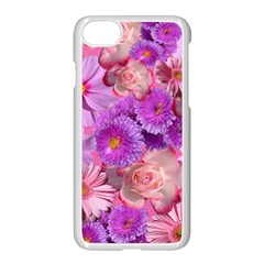 Flowers Blossom Bloom Nature Color Apple Iphone 8 Seamless Case (white)