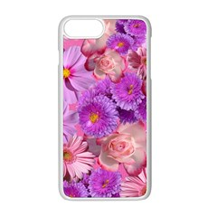 Flowers Blossom Bloom Nature Color Apple Iphone 8 Plus Seamless Case (white)
