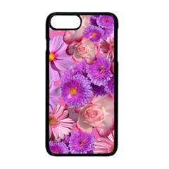 Flowers Blossom Bloom Nature Color Apple Iphone 8 Plus Seamless Case (black)