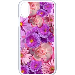 Flowers Blossom Bloom Nature Color Apple Iphone X Seamless Case (white)