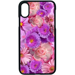 Flowers Blossom Bloom Nature Color Apple Iphone X Seamless Case (black)