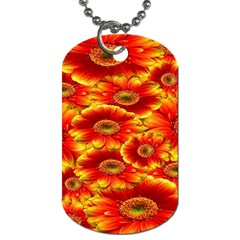 Gerbera Flowers Nature Plant Dog Tag (one Side)