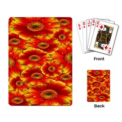Gerbera Flowers Nature Plant Playing Card