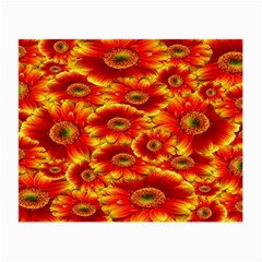 Gerbera Flowers Nature Plant Small Glasses Cloth (2 Side)