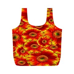 Gerbera Flowers Nature Plant Full Print Recycle Bags (m)