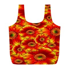 Gerbera Flowers Nature Plant Full Print Recycle Bags (l)