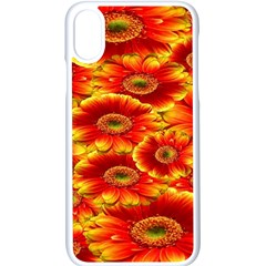 Gerbera Flowers Nature Plant Apple Iphone X Seamless Case (white)