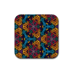 Grubby Colors Kaleidoscope Pattern Rubber Coaster (square)
