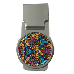Grubby Colors Kaleidoscope Pattern Money Clips (round)