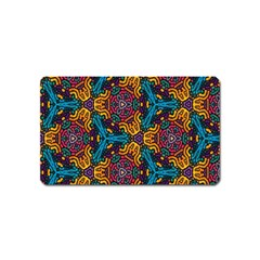 Grubby Colors Kaleidoscope Pattern Magnet (name Card)