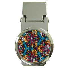 Grubby Colors Kaleidoscope Pattern Money Clip Watches
