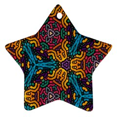 Grubby Colors Kaleidoscope Pattern Star Ornament (two Sides)