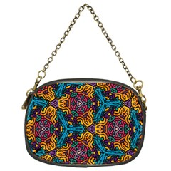 Grubby Colors Kaleidoscope Pattern Chain Purses (one Side)