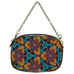 Grubby Colors Kaleidoscope Pattern Chain Purses (two Sides)