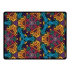 Grubby Colors Kaleidoscope Pattern Fleece Blanket (small)