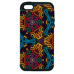 Grubby Colors Kaleidoscope Pattern Apple Iphone 5 Hardshell Case (pc+silicone)