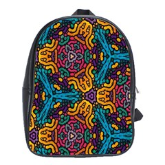Grubby Colors Kaleidoscope Pattern School Bag (xl)