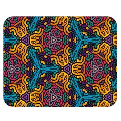 Grubby Colors Kaleidoscope Pattern Double Sided Flano Blanket (medium)